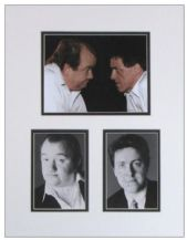 Mel Smith & Griff Rhys Jones Autograph Signed Display